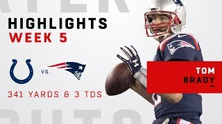 Tom Brady's Big Night w/ 341 Yards, 3 TDs & 500 Career TD Passes!
