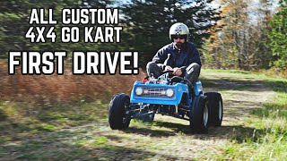 4WD Power Wheels Go Kart First Drive! 228cc Custom 4X4 Ford Bronco Lives!