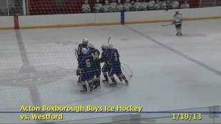 Acton Boxborough Varsity Boys Hockey @ Westford 1/19/13