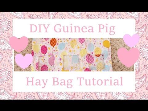 DIY Guinea Pig Hay Bag Tutorial