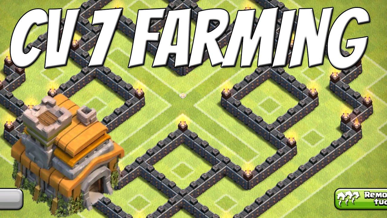 clash of clans layout cv 7 farming base youtube