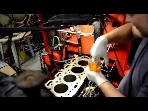 Installation af foringer / Cylinder liner installation - Volvo D39T Motor/Engine (Perkins A4.236)