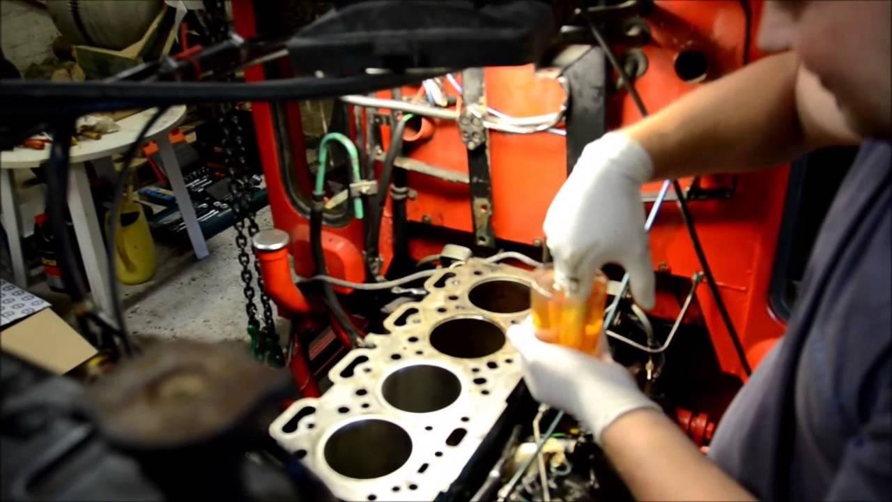 Installation af foringer / Cylinder liner installation - Volvo D39T  Motor/Engine (Perkins A4 236)