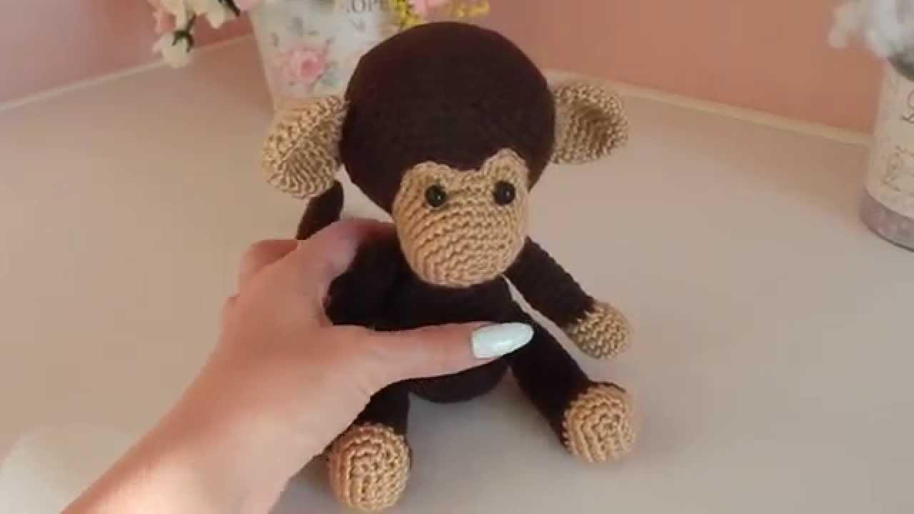 Схема как связать обезьянку крючком