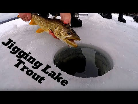 Maine Ice Fishing | Big Lake Trout On Ultra Light Jig Rod
