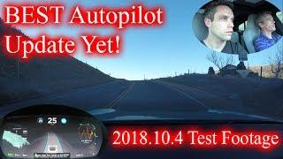 Tesla 2018.10.4 Testing! BEST AUTOPILOT UPDATE EVER!