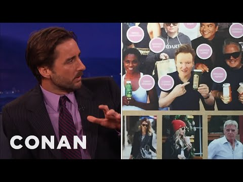 Luke Wilson Calls Out Conan's Awkward Smoothie Pic  - CONAN on TBS