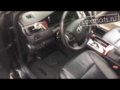 Коврики салона Mercedes E-class (W212) резиновые черные - YouTube