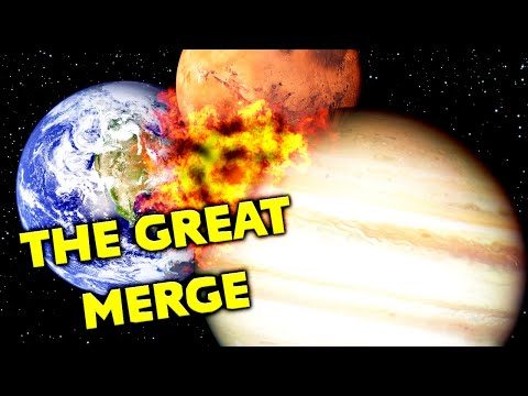 MERGING ALL PLANETS in Universe Sandbox |