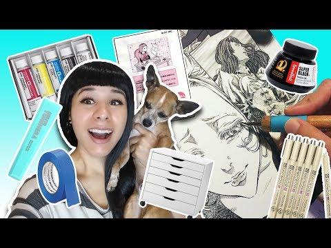 ❤ Professional Mangaka Supplies & Furniture ❤ Tools, storage, art supplies ❤ Make manga like a pro