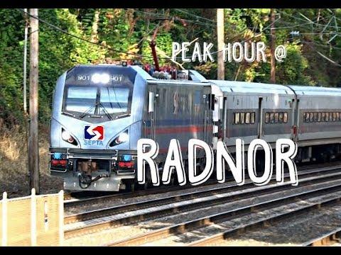 TVS-SEPTA Trains: Peak Hour At Radnor Station