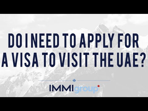 Do I need to apply for a visa to visit the UAE?