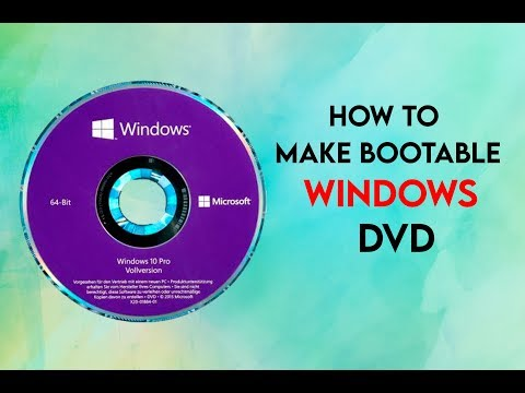 How To Make Bootable Windows 10 DVD Drive From ISO File | Make A Bootable CD  |  Nero Expres