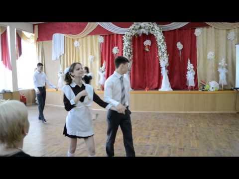 Last Bell Waltz in Soviet schoolgirl uniform Dance