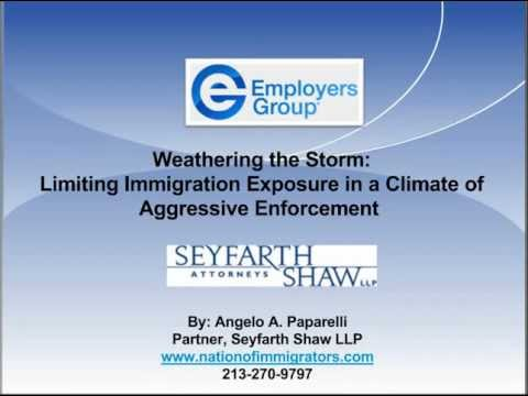 Weathering the Storm: Limiting Immigration Exposure in a Climate of Aggressive Enforcement