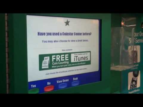 No Fees with CoinStar E-Certificates - YouTube