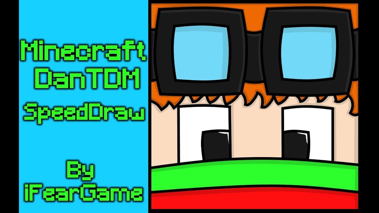 Minecraft DanTDM Christmas Skin (SpeedDraw) - YouTube