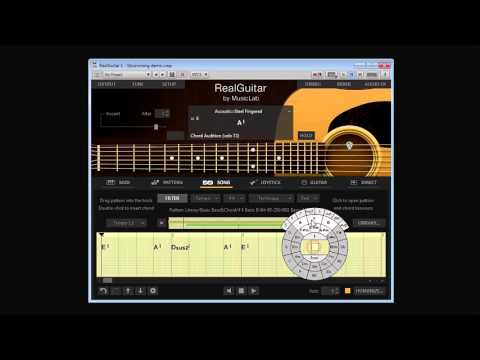 RealGuitar 4. Song mode. Strumming