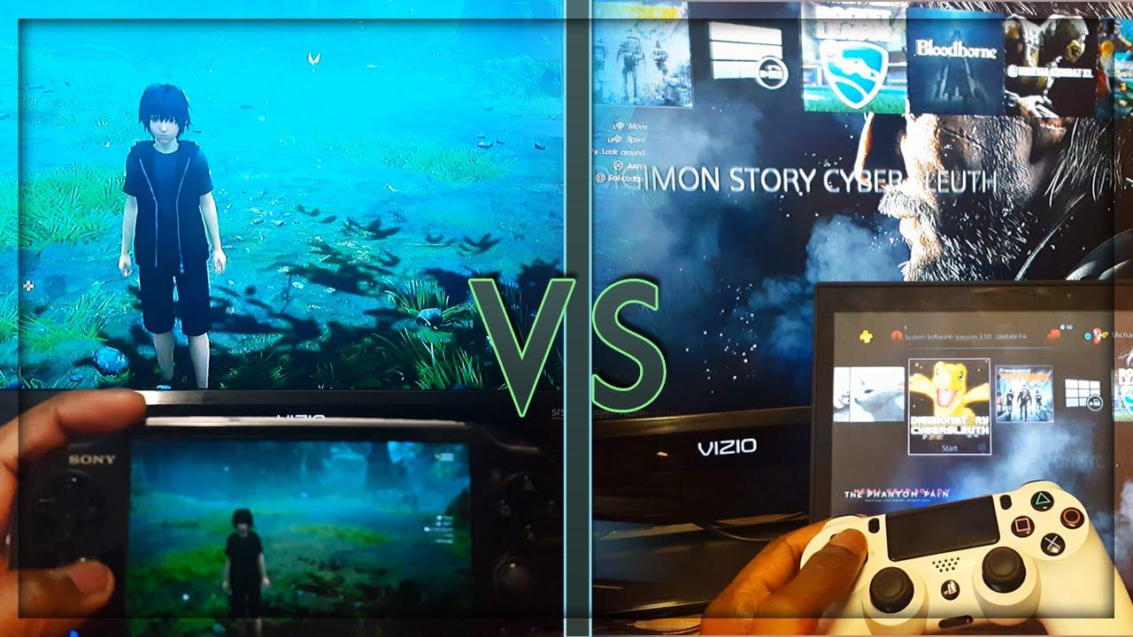 PS4-PC Remote Play vs PS4-PS Vita Remote Play - YouTube