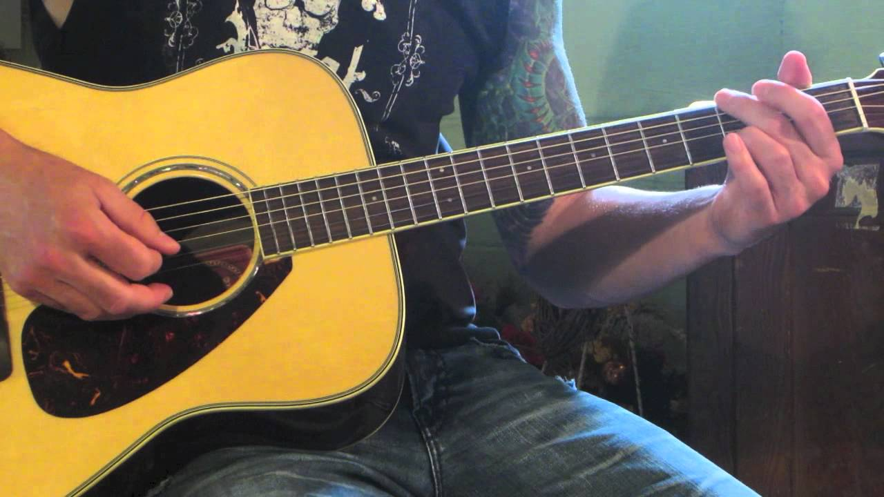 Staind Its Been Awhile Acoustic Guitar Lesson Youtube