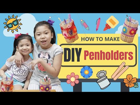 Vlog011 DIY Pen holders | Recycling empty chip containers | Kids activity