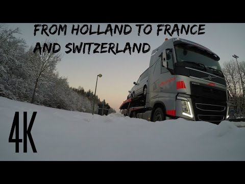4K From Holland To France And Switzerland Winter Trucking Gopro 5 And Feiyutech G5