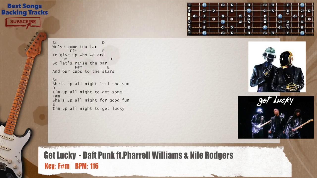 Get Lucky Daft Punk Ft Pharrell Williams Nile Rodgers Guitar - Songs like get lucky daft punk popular