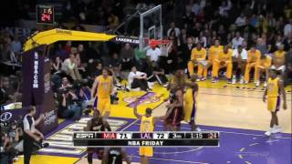 Dwyane Wade (three dunks against Lakers and two step move on Pau Gasol) [1080p]
