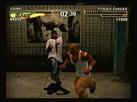 Def Jam Fight for NY - Comp vs Sticky Fingaz @ the Subway (HARD)