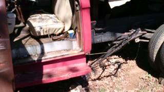 Ford dump truck start up