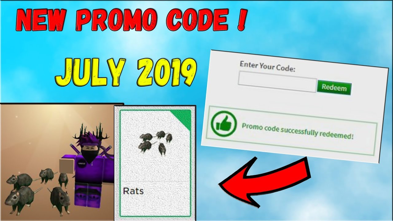 New Roblox Promo Code July 2019 New Free Item Youtube