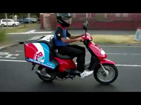 Dominos Pizza Delivery With TGB Express Delivery Scooter