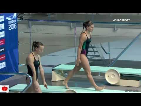 Tania Cagnotto e Francesca Dallapé  i 5 tuffi dell'8° oro europeo consecutivo a Londra 2016
