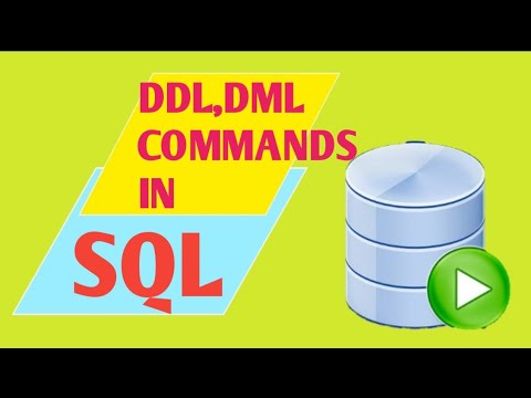 DDL and DML Commands In SQL || Interview Questions of DDL and DML - YouTube