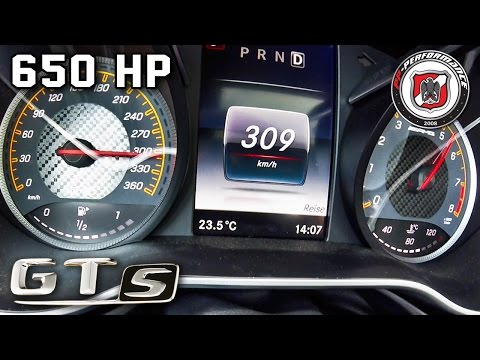 Mercedes AMG GT S 650 HP 0-309 km/h ACCELERATION PP Performance by AutoTopNL