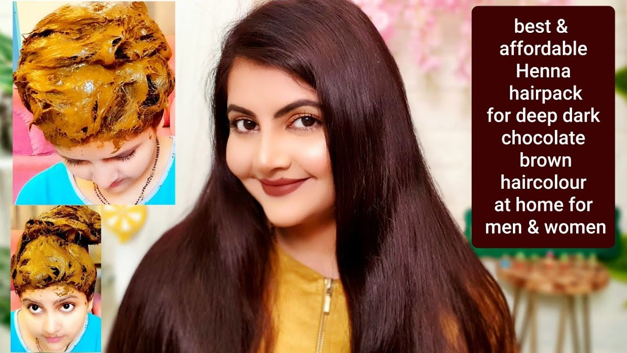 Henna pack for deep dark chocolate brown hair colour at home |RARA|nature tattv natural henna powder