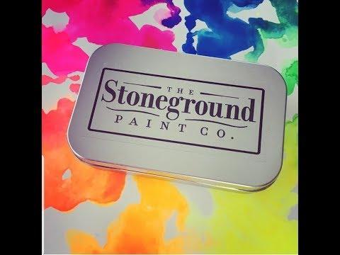 New Watercolors! Stoneground Paint Co. -  Flourescent Palette