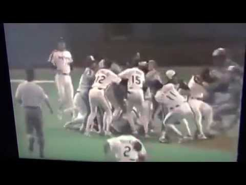 Houston Astros Brawl With Montreal Expos Larry Andersen Beans Spike Owen