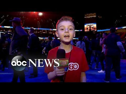 Angie Ward - Cute Kid Reporter At Superbowl 53