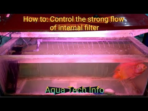 How to: Control fast & strong flow of internal filter