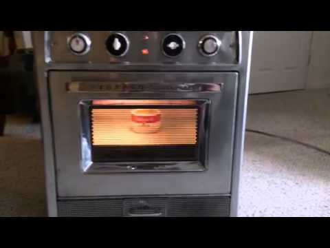 Heating Up Food In The 1957 Tappan Microwave Youtube