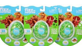 Fizz n Surprise Dinosaurs Surprise Egg Unboxing Toy Review