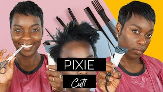 DIY!| HOW I CUT DOWN MY SHORT HAIR INTO A PIXIE!| Using Clippers AND Scissors| Roxy Bennett