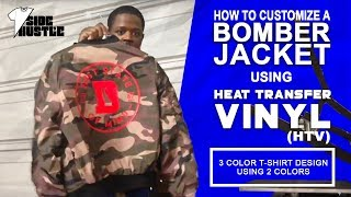 How To Customize a Bomber Jacket Using Heat Transfer Vinyl (HTV) [Heat Press Business Ideas]