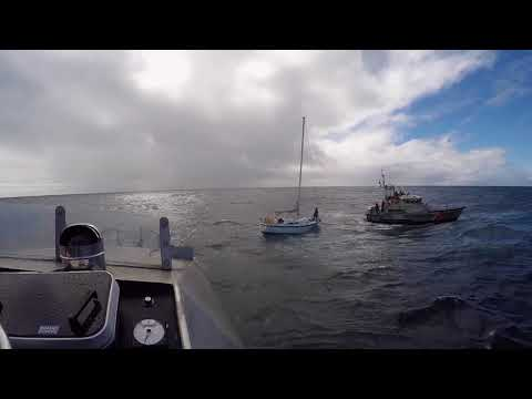 Coast Guard rescues 3 people and cat From Sailboat off Piedras Blancas