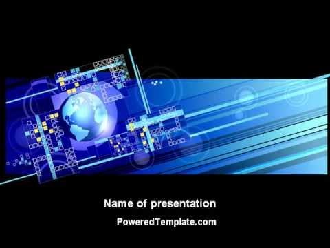 high tech planet powerpoint templatepoweredtemplate - youtube, Modern powerpoint
