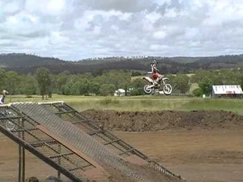 Pro FMX Rider Ryan Apps rides The Cooyar Kids track