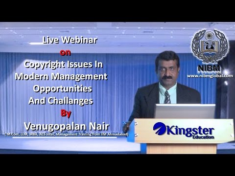 Copyright Issues in Modern Management- Opportunities and Challenges