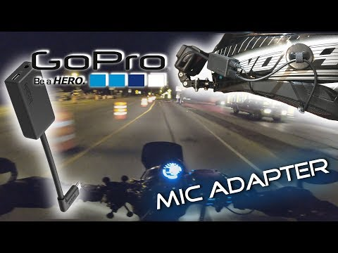 [4K] GoPro mic Adapter! Setup and Testing - Night RIDE