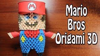 Mario Bros En Origami 3D